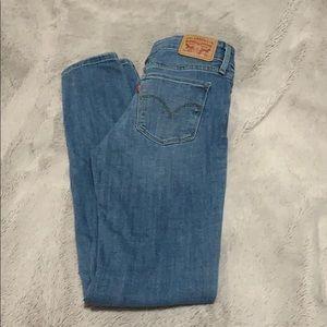 Low rise skinny Levi jeans